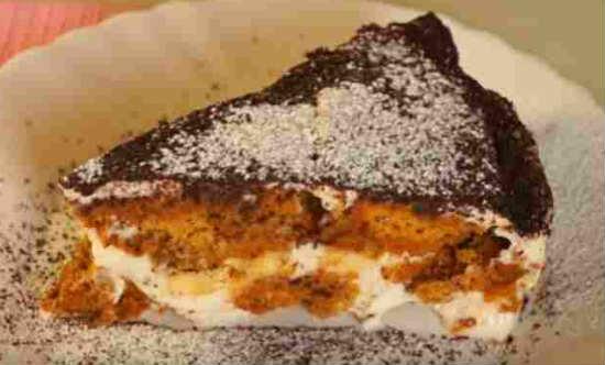 Торт из овсяного печенья без выпечки фото