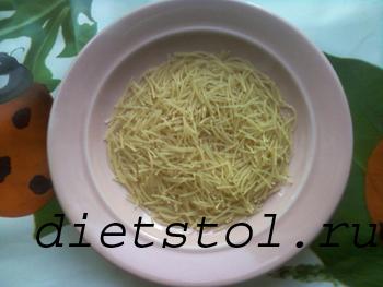 сырный суп с шампиньонами и вермишелью
