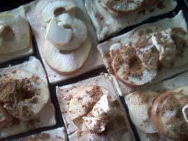 готовим слойки с яблоками фото