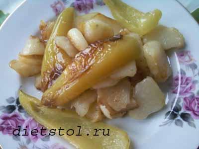 картофель с болгарским перцем фото