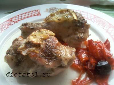 курица в духовке кусочками фото