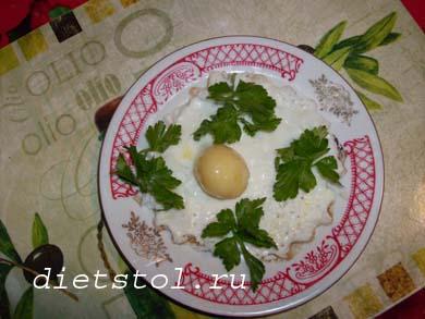 замороженная яичница на завтрак фото