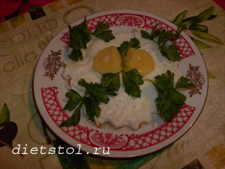 замороженная яичница на завтрак