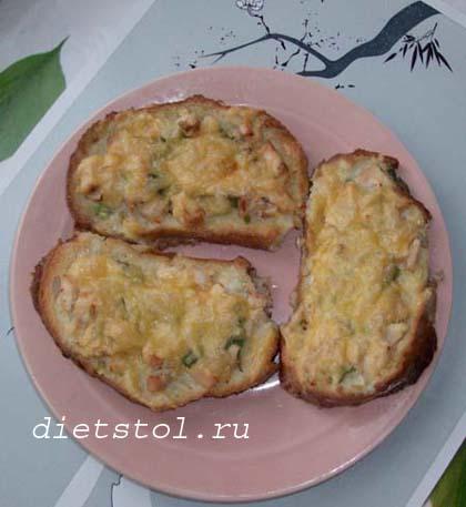 горячие бутерброды в духовке фото