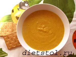 пикантный суп пюре из красной чечевицы фото