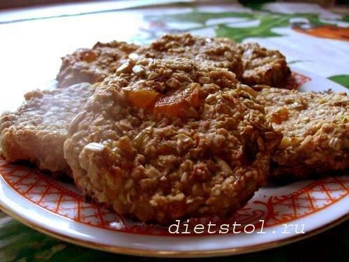 постное овсяное печенье диетическое рецепт