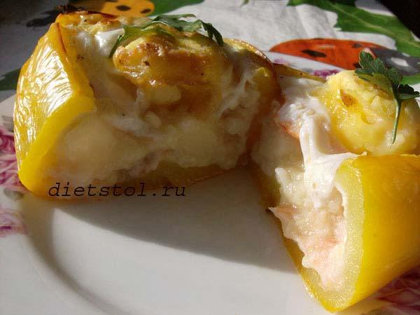 запеченные яйца в сладком перце фото
