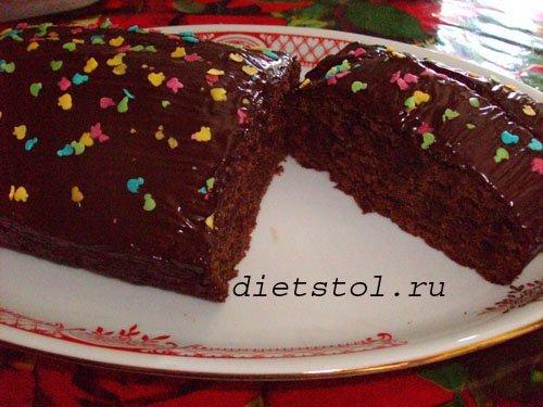 постный шоколадный торт из свеклы