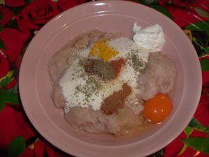 фарш и специи для куриных колбасок фото