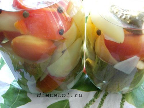овощное ассорти на зиму рецепт заготовки