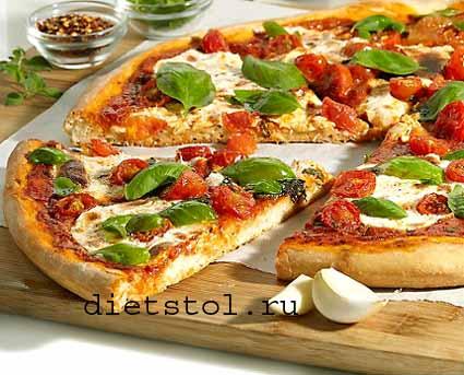 тесто для пиццы без дрожжей фото