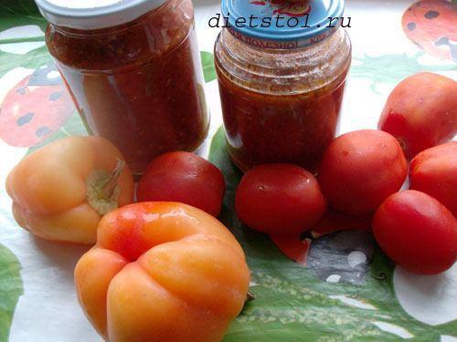 домашний томатный соус острый фото
