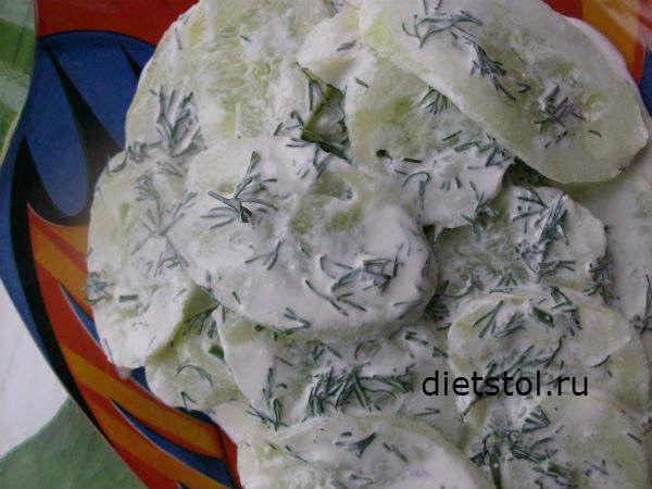 салат из огурцов Мизерия фото, salat mizerija