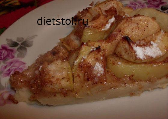 сладкая пицца из яблок фото