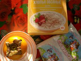 ингредиенты для приготовления овсяного смузи фото