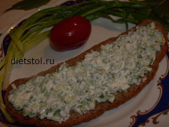 быстрая закуска из зеленого лука рецепт с фото
