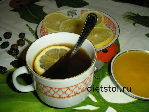 напиток из шиповника с медом и лимоном фото