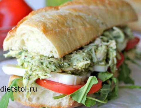 Фото Рецепт сэндвича с курицей - рецепт и приготовление