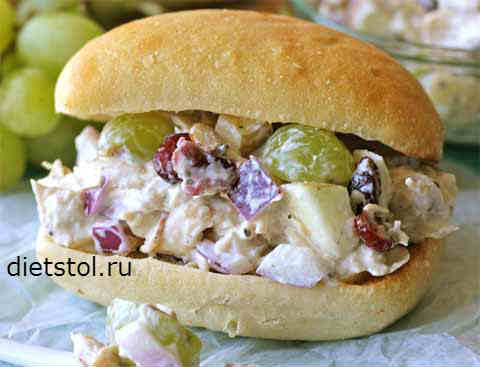 Фото Рецепт сэндвича с куриным салатом - рецепт и приготовление