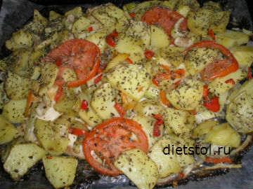 как приготовить вкусно камбалу в духовке с картошкой