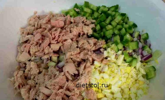 салат с тунцом консервированным рецепт с сельдереем