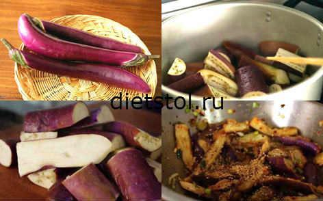 баклажаны, баклажаны по корейски - рецепт с фото