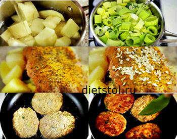 курино-картофельные котлеты-приготовление фото