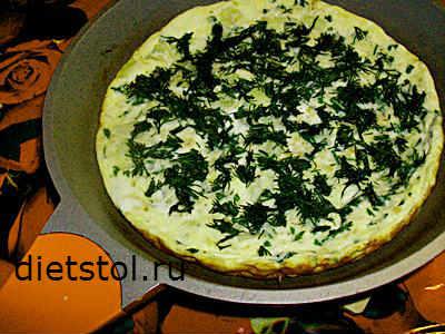 омлет из кабачков на сковороде -рецепт и фото