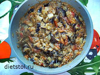 Рагу из баклажанов рецепт
