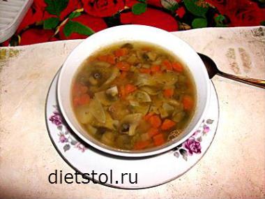 диетический суп из чечевицы- рецепт и фото