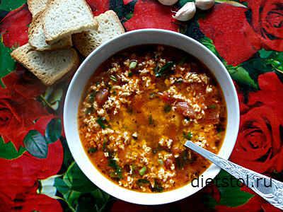 яичный суп с помидорами- рецепт и фото