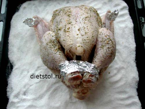 курица на соли в духовке - фото