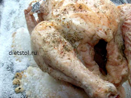 курица на соли - фото