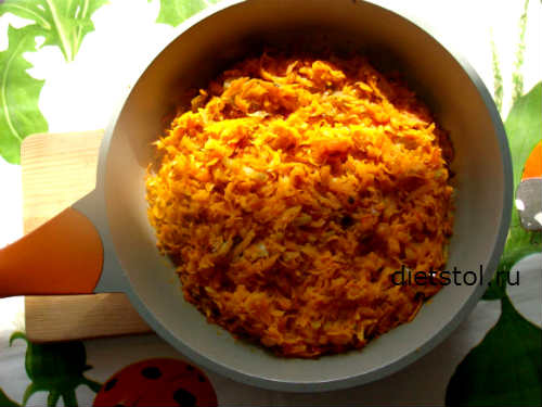 гарнир из моркови- рецепт и фото