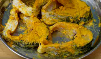 карп жареный на сковороде по-бенгальски рецепт пошаговый