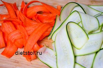 ленточная нарезка овощей -используем шинковку Мандалину фото