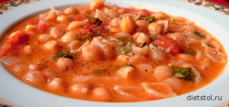 итальянский суп с пастой фото