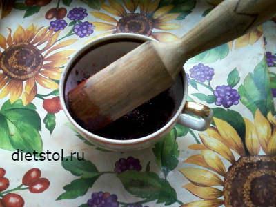 напиток из черноплодной рябины - приготовление