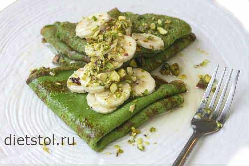 Рецепт: зеленые блины