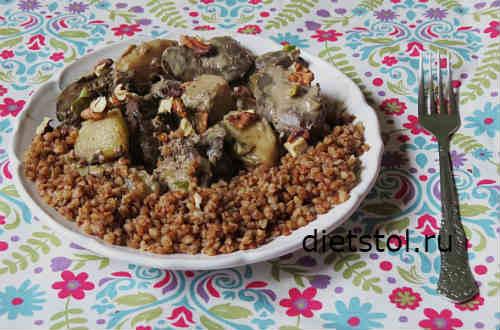 Куриная печень с грушей рецепт с фото