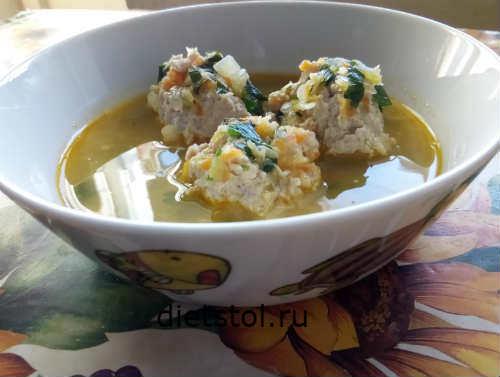 Детский суп с фрикадельками рецепт