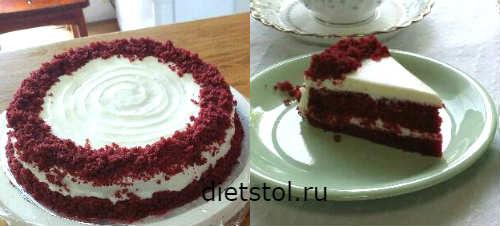 Торт красный бархат шаг2