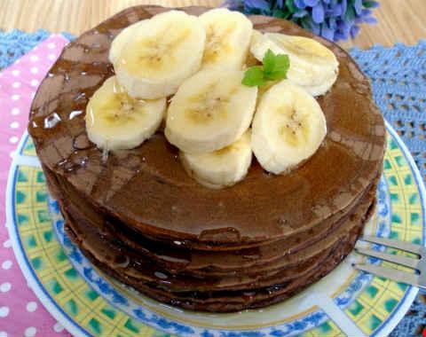 Шоколадные панкейки рецепт с фото