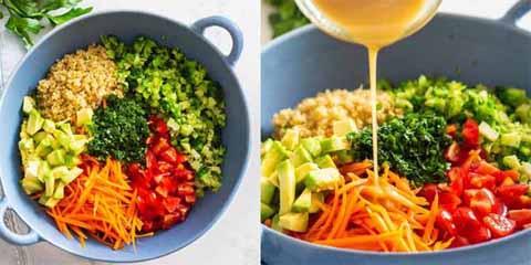 заправка для салата с киноа и авокадо
