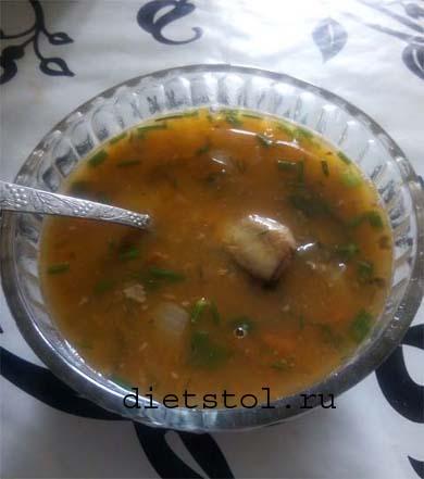 Рыбный суп с чечевицей: Ингредиенты