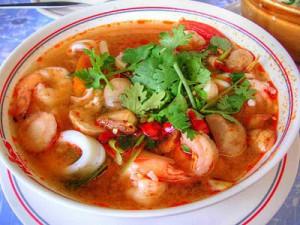 Китайский суп из кальмаров