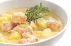 Финский рыбный суп со сливками Лохикейтто