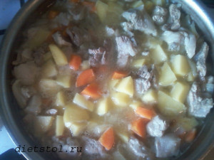 овощное рагу с мясом