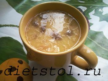 сырный суп с шампиньонами фото