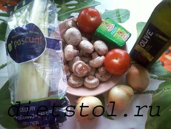 сырный суп с шампиньонами продукты